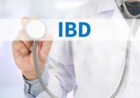 IBD - Inflammatory Bowel Disease. Medical Concept Medicine doctor hand working on virtual screen